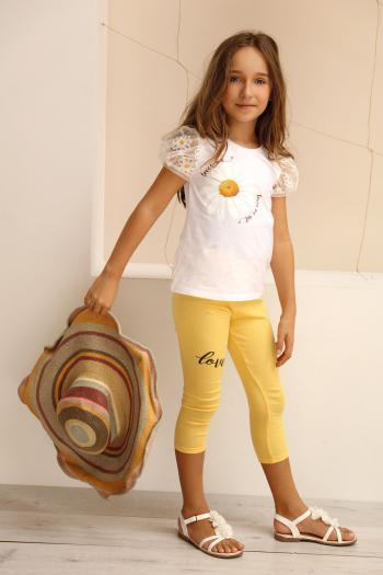 Żółte legginsy