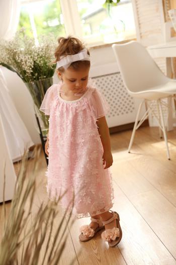 Różowa sukienka w drobne...