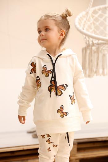 Kremowa bluza w motylki