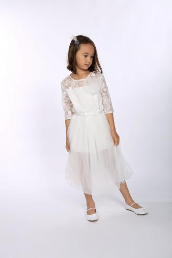 Sukienka z haftowanego tiulu