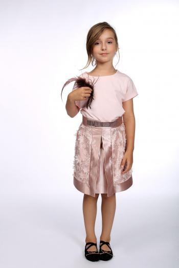 Różowa spódniczka z dzianiny