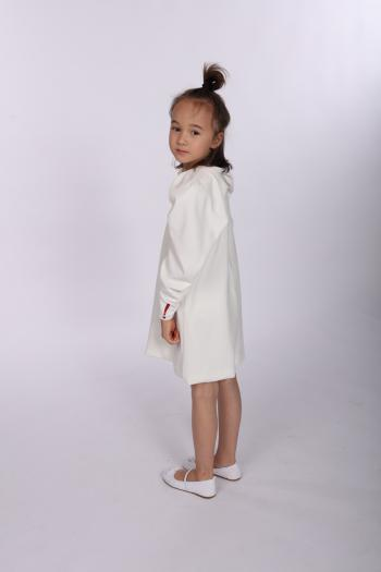 Kremowa sukienka z weluru