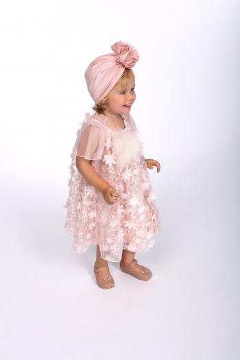 Różowa sukienka z koronki