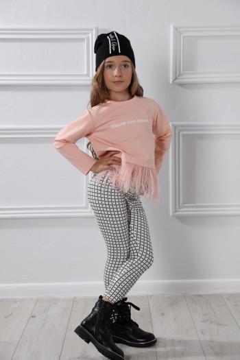 Różowa bluzeczka z nadrukiem