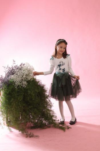Zielona spódniczka z tiulu