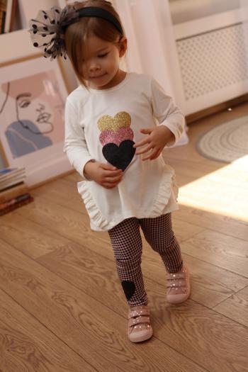 Kremowa tunika z sercami