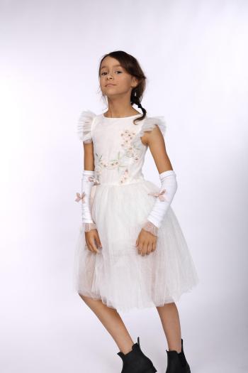 Kremowa sukienka z bawełny