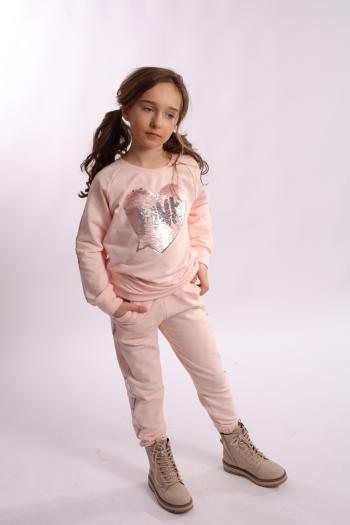 Pudrowy dres (Bluza + spodnie)