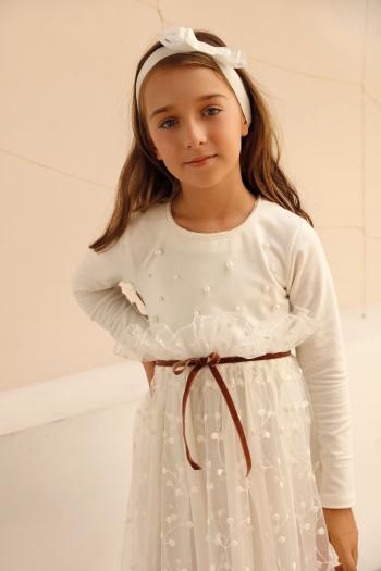 Kremowa sukienka z...